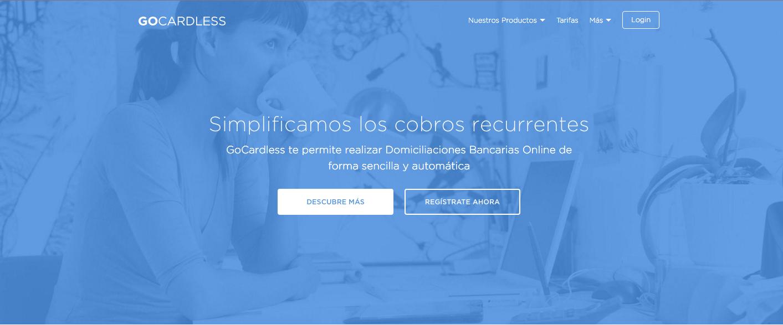 GoCardless Domiciliación Bancaria Cobros simples